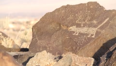 Petroglyph National Monument  9453 Stock Footage