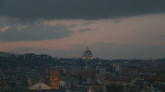 Slow zoom into St Peters Dome, Rome Stock Footage