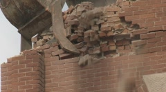 Church demolition 06 Stock Footage