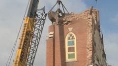 Church demolition 07 Stock Footage