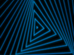 Blue triangles Stock Footage