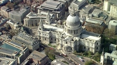 St Pauls Cathedral London Aerial - stock footage