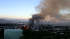 San Bruno fire in September 2010 Stock Footage