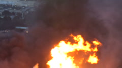 San Bruno, CA, fire/explosion in September 2010 Stock Footage