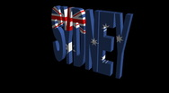 Stock Video Footage of Sydney flag text rotating animation