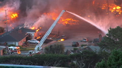 Firefighters of the San Bruno explosion/fire in September 2010 Stock Footage