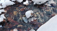 Stock Video Footage of Cold stream and icicle, winter season.