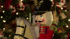 Horse Riding Nutcracker, Rock Back And Forth Stock Footage