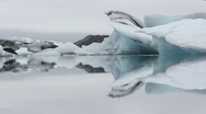 Ice on lagoon 4 Stock Footage