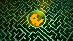 British pound symbol in the maze Stock Footage