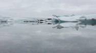 Ice on lagoon 1 Stock Footage