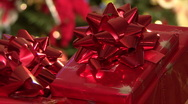 Shiny Red Christmas Gifts Stock Footage