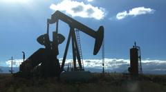 Broken Down Oil Pump Time-lapse Stock Footage