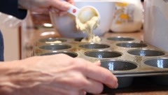 Baking Muffins Stock Footage