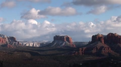 gorgeous sedona timelaspe with clouds loop rood Stock Footage