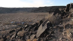New Mexico Petroglyphs 9400 Stock Footage