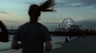 Run on beach Stock Footage
