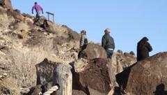 New Mexico Petroglyphs 9386 Stock Footage