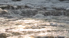 river water and ice in winter - stock footage