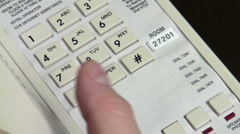 Hotel telephone close-up V1 - HD Stock Footage