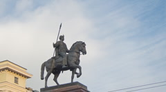 Monument of Cossack Stock Footage
