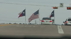 Flags in Texas - stock footage