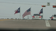 Flags in Texas Stock Footage