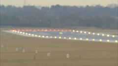 Runway lights focus/defocus 1920x1080 Stock Footage