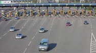 Stock Video Footage of Toll Road Cars