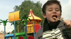 Happy Little Boy Stock Footage