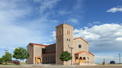 Church and Wind Timelapse Stock Footage