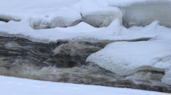 Cascade River Ice - stock footage