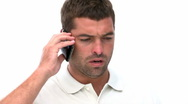 Handsome man with a cellphone Stock Footage