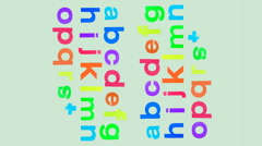 Stock Video Footage of abc scrunch alphabet letters