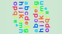 Abc scrunch alphabet letters Stock Footage