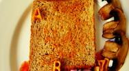 Alphabetti spaghetti2 Stock Footage