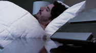 Stock Video Footage of Man has trouble sleeping V2 - HD