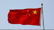 Chinese Flag Stock Footage