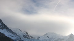 Mont blanc alps france mountains snow peaks ski timelapse Stock Footage