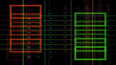 Code data computer numbers graphics information Stock Footage