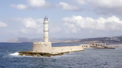 Crete lighthouse2 Stock Footage