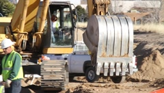 Road Construction Site Stock Footage