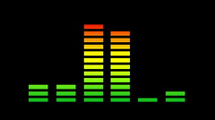 Equalisers music graphic audio sound party disco volume Stock Footage