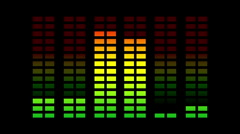equalisers music graphic audio sound party disco volume - stock footage