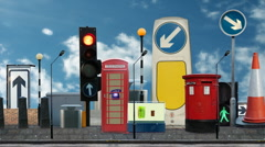 Fake city urban london Stock Footage