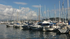 Ibiza marina port balearic boats harbour Stock Footage