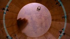 Man drum music bongo beat sound percussion Stock Footage