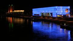Linz kunstmuseum Stock Footage