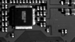 Stock Video Footage of chip macro computer circuit boards
