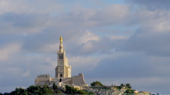 Notre dame de la garde church, marseille, france Stock Footage